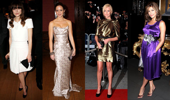 Keira Knightley, Emily Blunt, Charlize Theron, Eva Mendes