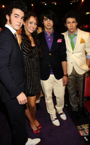 Miley Cyrus, The Jonas Brothers