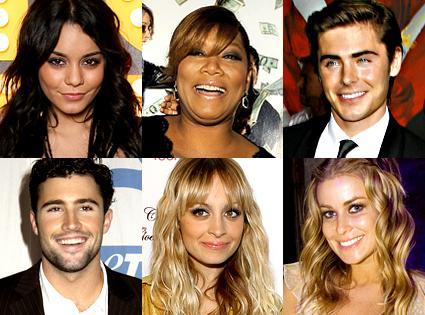 Vanessa Hudgens, Queen Latifah, Zac Efron, Brody Jenner, Nicole Richie, Carmen Electra