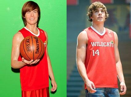 Zac Efron, High School Musical, Wax Efron