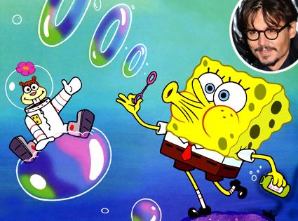 Sponge Bob SquarePants, Johnny Depp