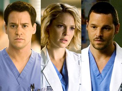 Grey's Anatomy, T.R. Knight, Katherine Heigl, Justin Chambers