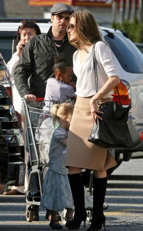 Brad Pitt, Angelina Jolie, Shiloh, Zahara