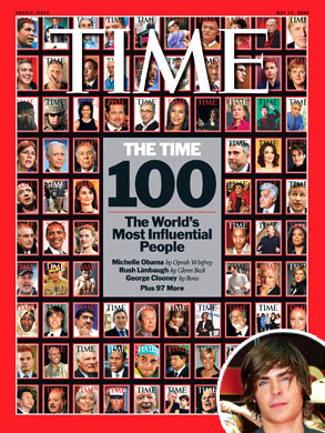 Time Magazine's 100 Most Influential People, Zac Efron