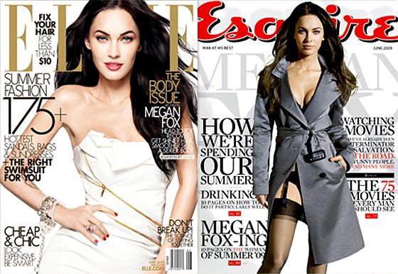 Megan Fox, Elle Cover, Esquire Cover