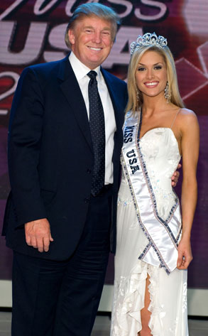 Donald Trump & Tara Conner - Trump also came to the aid of this Miss USA, who copped to drinking, drug use and other conduct unbecoming before agreeing to rehab and keeping her crown  . NEXT GALLERY: Stars Flipping the Bird