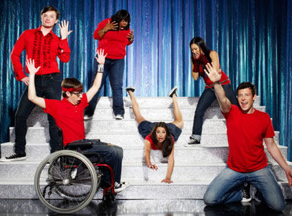 Glee, Chris Colfer, Amber Riley, Lea Michele, Jenna Ushkowitz, Cory Monteith, Kevin McHale