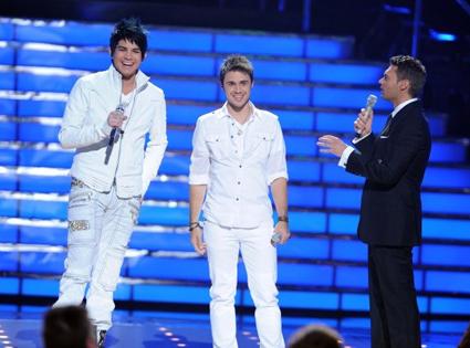 Adam Lambert, Kris Allen, Ryan Seacrest, American Idol