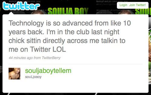 Soulja Boy Tell Em's Twitter Page