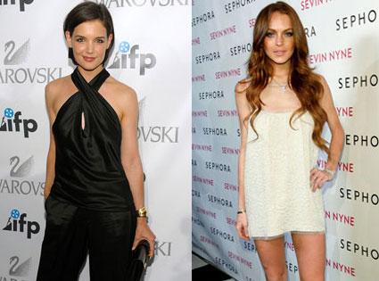 Katie Holmes, Lindsay Lohan