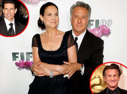 Dustin Hoffman, Lisa Hoffman, Tom Cruise, Sean Penn