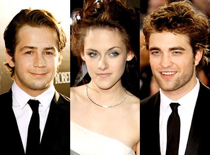 Michael Angarano, Kristen Stewart, Robert Pattinson