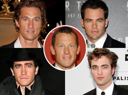Chris Pine, Rob Pattinson, Matthew McConaughey, Jake Gyllenhaal, Lance Armstrong