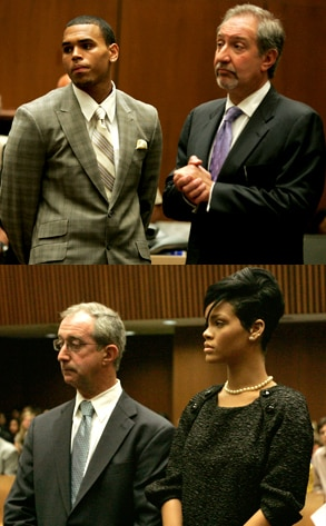 Chris Brown, Mark Geragos, Donald Etra, Rihanna
