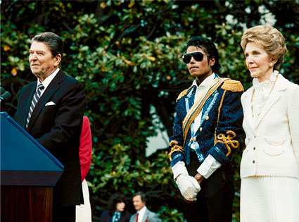 President Ronald Reagan, Michael Jackson, Nancy Reagan