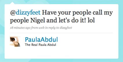 Paula Abdul, Twitter