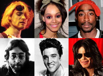Kurt Cobain Lisa Left Eye Lopes Tupac Shakur John Lennon