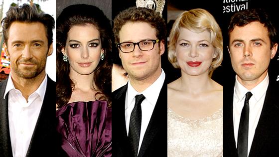 Hugh Jackman, Anne Hathaway, Seth Rogen, Michelle Williams, Casey Affleck