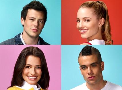 Cory Monteith, Dianna Agron, Lea Michele, Mark Salling, Glee