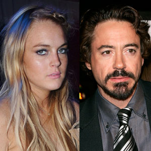 Lindsay Lohan, Robert Downey Jr.
