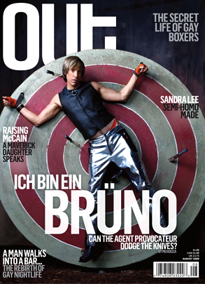 Sacha Baron Cohen, Bruno, Out Magazine
