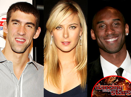 Michael Phelps, Maria Sharapova, Kobe Bryant, Dancing with the Stars logo