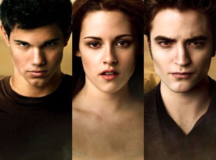 Taylor Lautner, Kristin Stewart, Robert Pattinson, New Moon