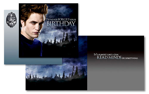 Twilight, Card, Robert Pattinson