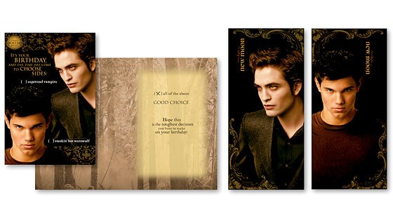 Twilight, Card, Two Sided