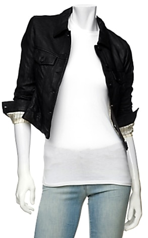 Gryphon's Leather Jean Jacket