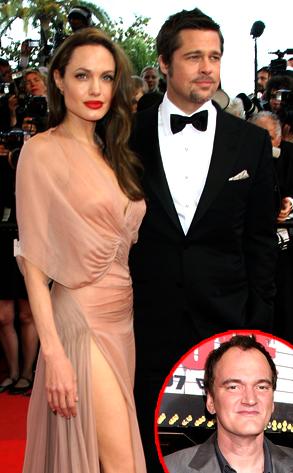 Brad Pitt, Angelina Jolie, Quentin Tarantino