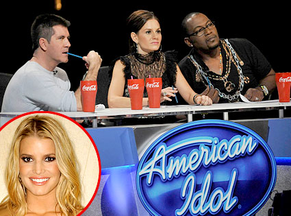 American Idol, Simon Cowell, Kara DioGuardi, Randy Jackson, Jessica Simpson