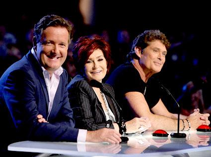 America's Got Talent, Piers Morgan, Sharon Osbourne, David Hasselhoff