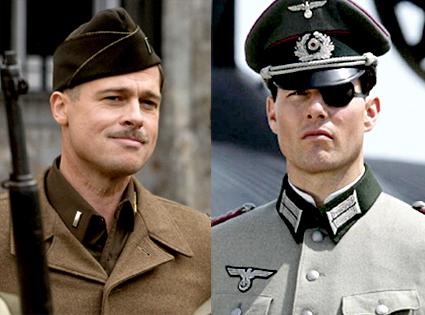 Brad Pitt, Inglourious Basterds, Tom Cruise, Valkyrie