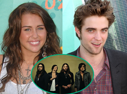 Miley Cyrus, Robert Pattinson, The Kings of Leon