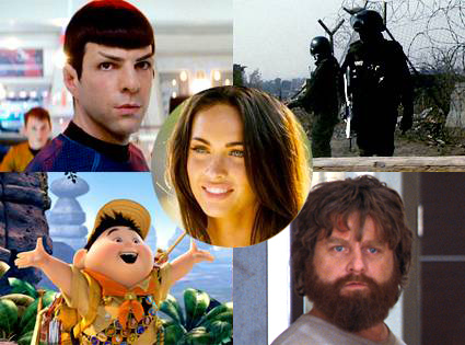 Zachary Quinto, Star Trek, District 9, Up, Hangover, Megan Fox