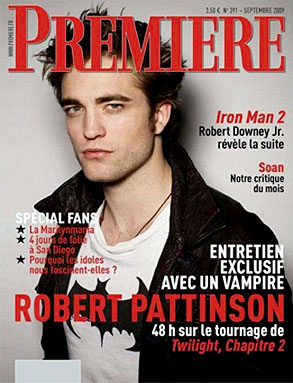 Robert Pattinson, Premiere Magazine, Cover
