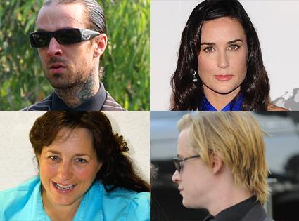 Travis Barker, Demi Moore, Michelle Duggar, Macaulay Culkin