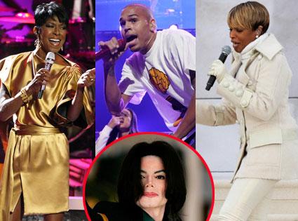 Natalie Cole, Chris Brown, Mary J Blidge, Michael Jackson