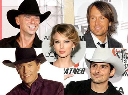 Kenny Chesney, Keith Urban, George Strait, Brad Paisley, Taylor Swift