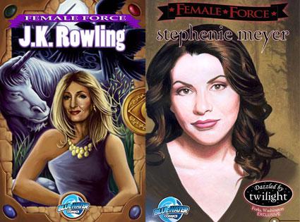 Female Force Comics, JK Rowling, Stephanie Meyer