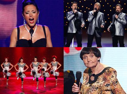 Barbara Padilla, The Texas Tenors, Fab Five, Grandma Lee, America's Got Talent