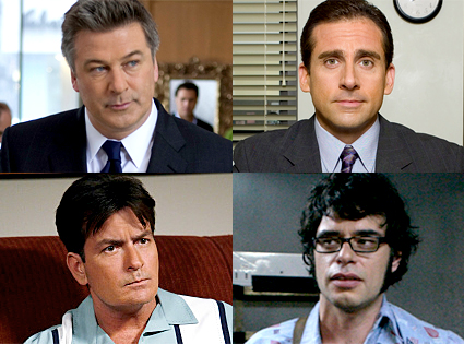 Alec Baldwin, 30 Rock, Steve Carell, The Office, Charlie Sheen, Two and a Half Men, Jemaine Clement, Flight of the Conchords