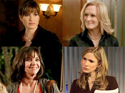 Mariska Hargitay, Law & Order: Special Victims Unit, Glenn Close, Damages, Sally Field, Brothers and Sisters, Kyra Sedgwick, The Closer
