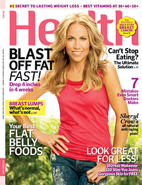 Sheryl Crow, Health Magazine, Cover