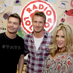 Ryan Seacrest, David Beckham, Ellen K