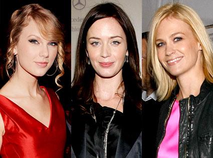 Taylor Swift, Emily Blunt, January Jones