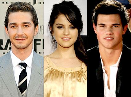 Shia LeBeouf, Selena Gomez, Taylor Lautner