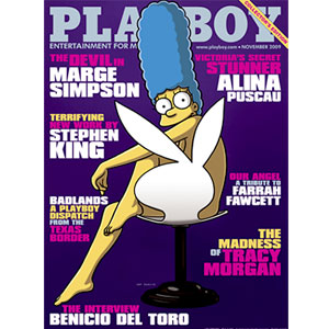 Marge Simpson, Playboy, Cover