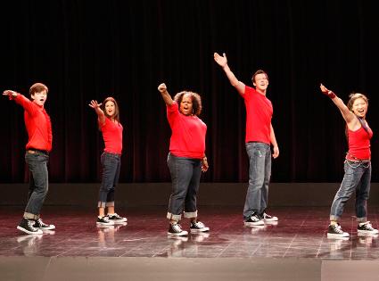 Chris Colfer, Lea Michele, Amber Riley, Cory Monteith, Jenna Ushkowitz, Glee